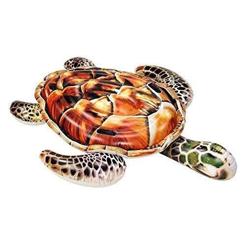 ier Schildkröte in braun/Schwimmtier mit Haltegriffen/Luftmatratze/Badeinsel ca. 175 x 148 cm ()
