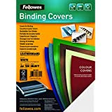 Fellowes Delta Leatherboard A4 Heavyweight 250gsm Presentation Covers - White (Pack of 100)