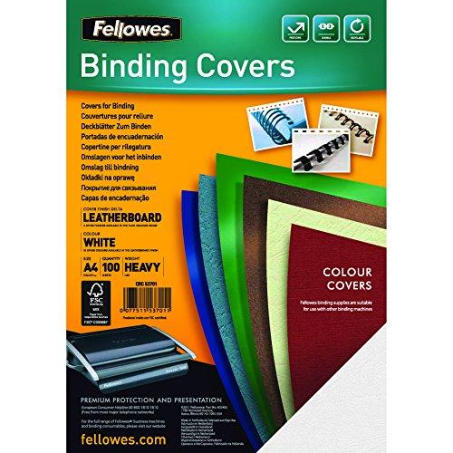 Preisvergleich Produktbild Fellowes 5370101 Präsentationsdeckblätter Delta (Lederstruktur), 250g/m², weiß