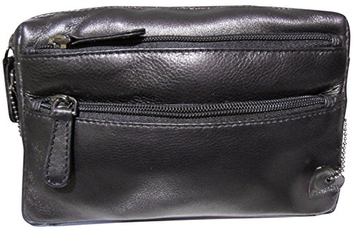 Josephine Osthoff Handtaschen-Manufaktur 5th Avenue - schwarz -, Borsa a tracolla donna Nero nero 18 cm breit, 11,5 cm hoch, 4 cm tief