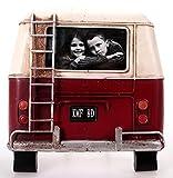 Metall Rahmen Bus Rückseite rot Bilderrahmen Nostalgie 20 x 21 cm
