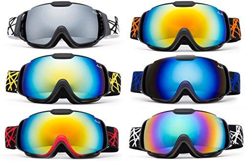 Cloud 9 goggles unisex-figlio - s professionali e occhiali da neve avvoltoio protezione uv400 doppia lente antinebbia triple strati occhiali da sci k87 navy