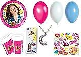 Kit de cumpleaños de fiesta Disney soy Luna para 8personas Nou