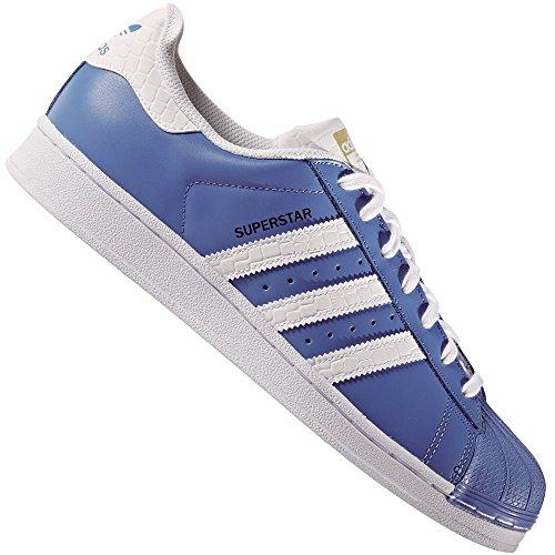 Sneaker Adidas Adidas Superstar Schuhe ray blue-running white-runnning white - 43 1/3