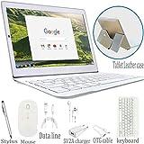 Tablette Tactile 2 en 1 - 64Go ROM Tablette Tactile Ecran 10 Pouces 4G 3Go RAM Android 8.1 Quad Core Doule SIM/WiFi Compris Clavier et Souris sans Fil 8500mAh Batterie Bluetooth GPS OTG