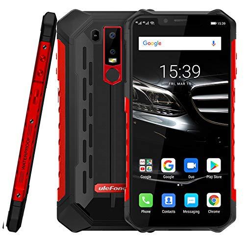 (2019) Ulefone Armor 6E Android 9.0 Robustes Smartphone Ohne Vertrag - Helio P70 Octa-Core Outdoor Handy 4 GB + 64GB,6,2\'\'FHD+Kerbenbildschirm, drahtlose Aufladung/NFC, IP68 wasserdicht rot