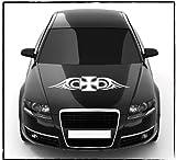 DD Dotzler Design - 2405_18 - Aufkleber für Motorhaube oder Heckscheibe - Abmessung ca 80 x 15 cm - Autodekor Autoaufkleber Car Tattoo Aufkleber Auto Car Tribal