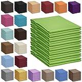 Qool24 Bettlaken 100% Baumwolle Betttuch Haustuch ohne Gummizug 30 Farben