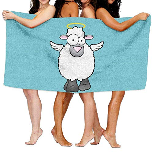 Laohujia Beach Pool Custom Bath Towel Soft Sheep Angel Wings Super Absorbent Microfiber