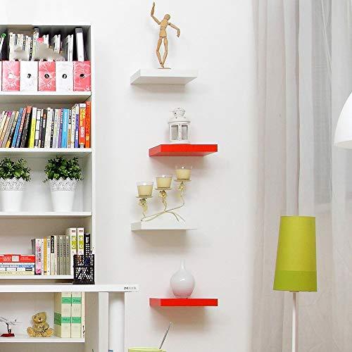 MTX Ltd Regal Wandhalterung 30Cm Wohnzimmer Wand Dekoration Regal 30 * 20 * 4Cm Sehr Langlebig, White Maple -