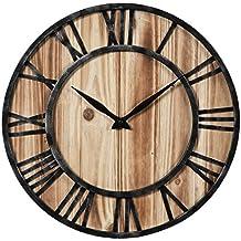 Orologio da Parete Vintage, Likeluk 15 pollici(40cm)Orologio da Parete Silenzioso in Legno Home Decor