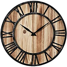 Amazonfr Horloge En Bois Massif