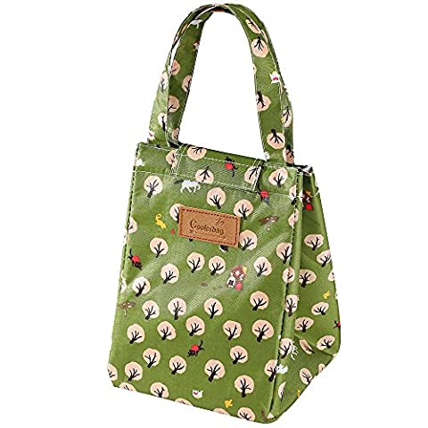 Insulated Lunch Bags, GETALL Tote Bag Oxford Cloth Aluminum Foil Padded Cooler Lunch Box Fresh Bottle (Ant