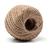 328 Feet (100m) Natural Rustic Jute Twine Jute Yarn String Hessian Rope Cord DIY For Drawstring Decor Antique Craft Wedding Gift Tags Wrapping Gardening Projects 2MM