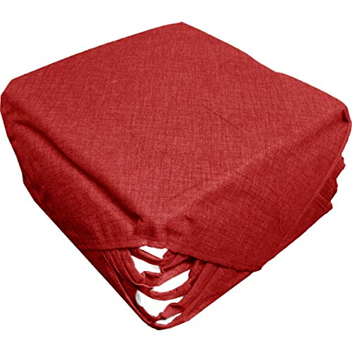 Russo tessuti 6 cuscini sedie cucina coprisedia imbottiti tinta unita vari colori alette-bordeaux