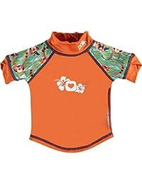 Pop-in 50123622, Camiseta con Protección UPF 50+ para Bebés, Multicolor (Kokeshi Doll), L
