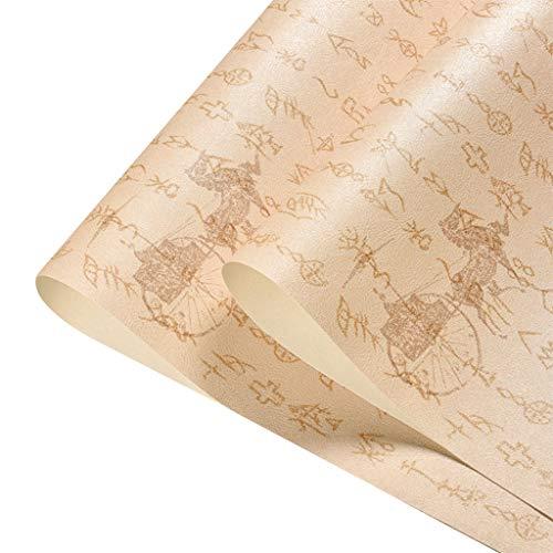 Alter Text Tapete Orakel Wagen Tee Raum Klassisch Studie Restaurant Wasserdicht Chinesischer Stil Wall Paper (Color : C)