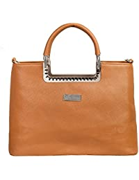 LB- Hand Bag For Women And Girls Durable Spacious Designer Handbags With Multi Compartments Brown,LB-685