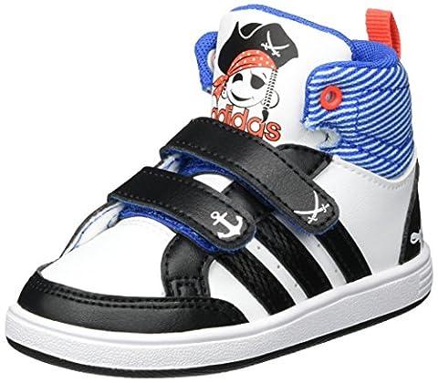 adidas Unisex Baby Hoops Cmf Mid Sneaker, Weiß (Footwear White/Core Black/Solar Red), 20 EU