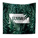 Wandbehang Strandtuch Couch Cover Tagesdecke Yoga-Matte Tischdecke Wohnzimmer Englisch Pflanze Blatt Mode Multifunktionale Wandbehang Wandbehang Strand 200x150cm 004