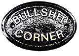"""""""BULLSHIT CORNER"""" WALL/HOUSE PLAQUE BLACK WITH GOLD RAISED LETTERING"""