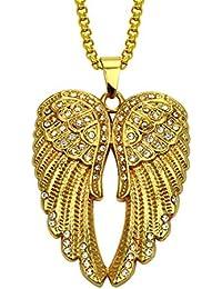 aaa4ad7225a1 Circlefly Alas de ángel europeas y americanas de hip hop rap joyería y collar  colgante de