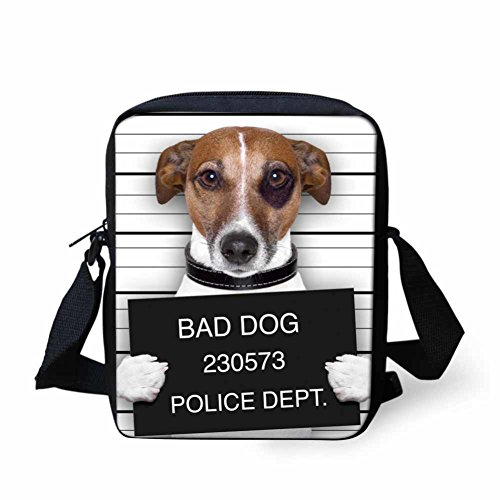 showudesigns , Borsa Messenger  multicolore bad dog s bad dog