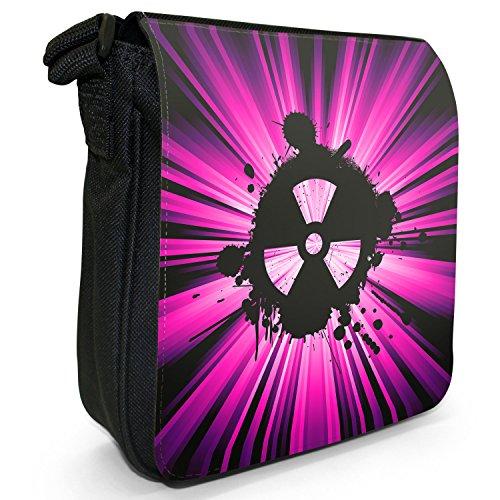 Radio Active Grunge Nuke piccolo nero Tela Borsa a tracolla, taglia S rosa