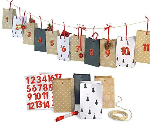 Weihnachtskalender Verschicken.Adventskalenderset Natural Christmas Adventskalender Weihnachtskalender Zum Selbstbefüllen