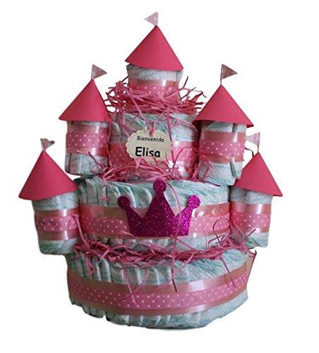Castillo de pañales Rosa