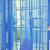 Tree-on-Life Moda Semplice Tinta Unita Tulle Porta Finestra Tenda Lavabile Drappo Pannello Sciarpa Pura mantovane Design Traslucido