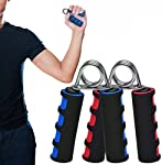 Sports Fitness Sponge Hand Strength Grip Wrist Developer:Specification: Material: Foam and Metal Color: Blue , Red ,Green Quantity: 1 pc Size: as the picture shows Description: The Soft Cushion Handled Grips are great for building up strength in the ...