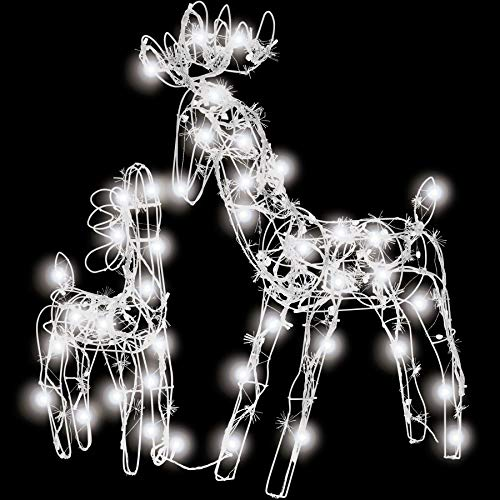 TecTake LED Iluminación navideña Exterior Renos