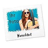 Herz & Heim® Brillenputztuch mit eigenem Foto und Ihrem Spruch