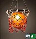 Modern Pendelleuchte Basketball Kreative Design Pendelampe Hochwertigem Acryl Lampenschirm Hängelampe Innen Dekoration Hängeleuchte Einzigartige Innenbeleuchtung Kinderzimmer Beleuchtung Schlafzimmer Lampe Bar Leuchte 1*E27