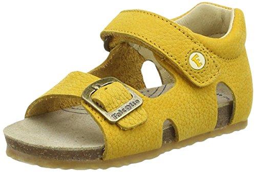 FALCOTTO - Sandalo giallo, in pelle, ideale per il gattonamento e il primo passo, Bambino-21
