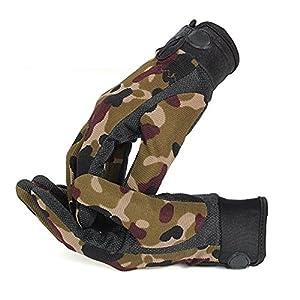 TOOGOO Hommes De plein air Mitaines de sport Mode Camouflage Airsoft Tir Chasse Gants doigts plein