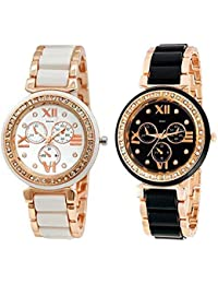 Kitcone Analog Multi-Colour Dial Women's Watch -(Pack of 2) (with Box Packaging)