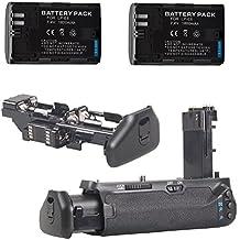 Neewer® profesional empuñadura de batería vertical batería empuñadura battery Grip para Canon 7d MarkII + 2pcs recargables batería de repuesto para LP-E6batería de ion de litio compatible con Canon EOS 5d Mark II, 60d y 7d cámaras réflex