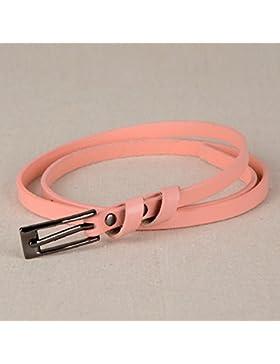 SILIU*El fino cinturón de cuero puro Sra. ocio fino, elegante y versátil de cuero ventral cinturón ventral , el...