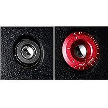 muchkey® Anillo de llave para coche accesorios Fashion Look llave de contacto Lock Keyhole decoración anillo cubierta de interruptor de pantalla para VW Volkswagen Golf 6CC para Audi A4A6A8, 1pieza