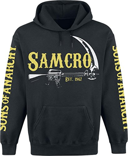 Sons of Anarchy Samcro - EST. 1967 Kapuzenpulli schwarz XL Anarchy Sweatshirt