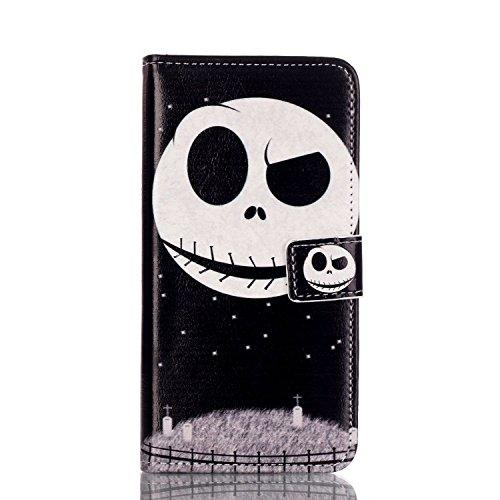 ISAKEN Kompatibel mit Galaxy S7 Hülle, PU Leder Brieftasche Geldbörse Wallet Case Ledertasche Handyhülle Schutzhülle Hülle Etui mit Standfunktion Karte Halter für Samsung Galaxy S7 - Nacht ()