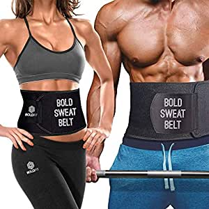 Boldfit Sweat Slim Belt Neoprene Tummy Trimmer and Fat Burner for Men & Women with Free Carry Bag