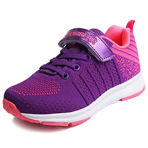 JOYORUN Sneaker Mädchen Laufschuhe Jungen Hallenschuhe Jungen Outdoor Sportart Schuhe Low-Top für Unisex-Kinder Pink 29