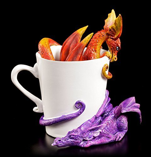 Amy Brown Drachen Figuren in Tasse - Wake Up Dragons