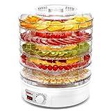 Macchina Per La Conservazione Degli Alimenti, Deumidificatore per alimenti a 5 strati per famiglie, bianco, 245 Watt,Macchina Per La Frutta Secca