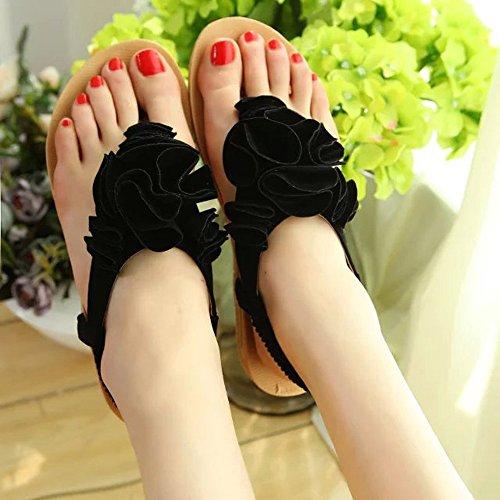 Longra Donne sandali di gomma Nero