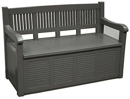 Gut gemocht Gartenbank 2-Sitzer Aufbewahrung Kissenbox Gartenmöbel 130x60x85 JJ27