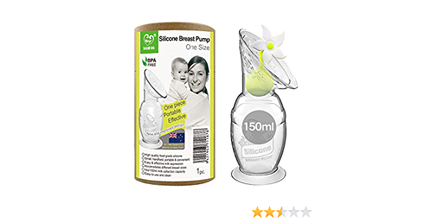 150 ml Wei/ß Haakaa Silikon-Milchpumpe mit Saugfu/ß und Blumenstopper BPA-frei 100/% lebensmittelechtes Silikon